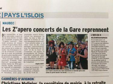 Revue de presse des Zapero-concerts du marché 2017 image