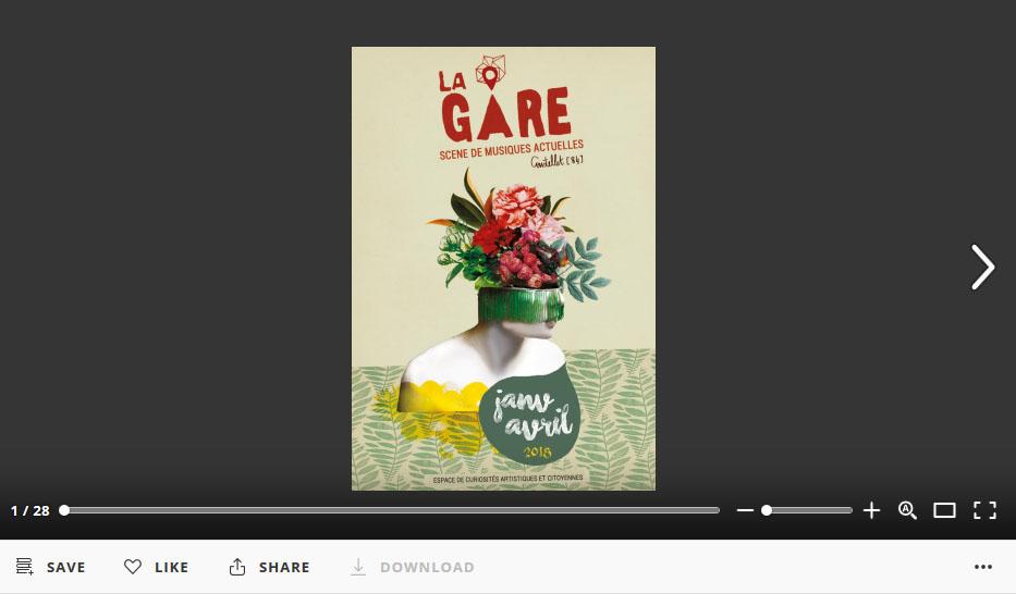 """Programme """"Musiques"""" à La Gare Janv > Avril 2018 image"""