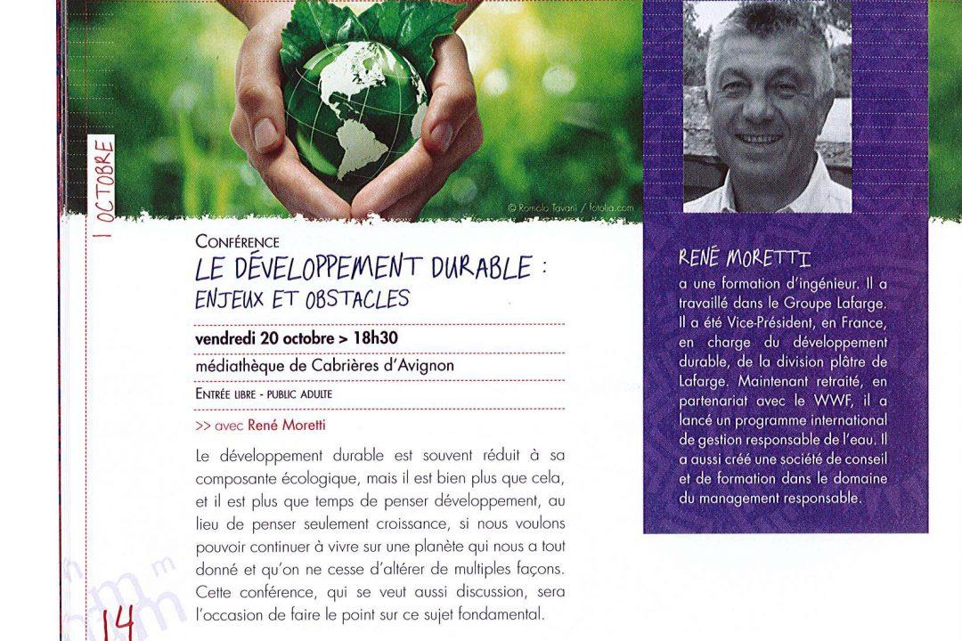 Conférence : développement durable image