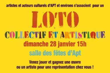 Loto collectif et artistique / Dim. 28/01 à APT image