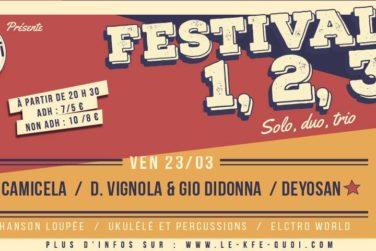 Festival 1,2,3 Day One - Sa. 23/03 . Kfé Quoi / Forcalquier image