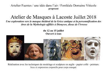 Ateliers masques à Lacoste - 12 > 15/07 image