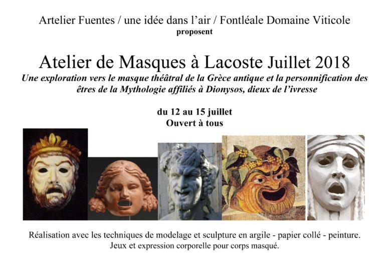 Ateliers masques à Lacoste – 12 > 15/07 image
