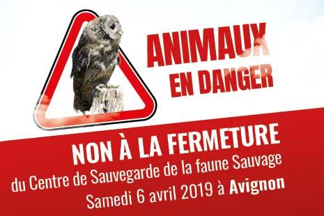 SAM. 6/04 : Rassemblement contre la fermeture du Centre de Sauvegarde de la Faune Sauvage de Buoux – AVIGNON image