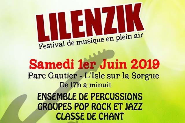 Festival Lilenzik . Sam. 1/06 . Parc Gauthier à l'Isle sur Sorgue image