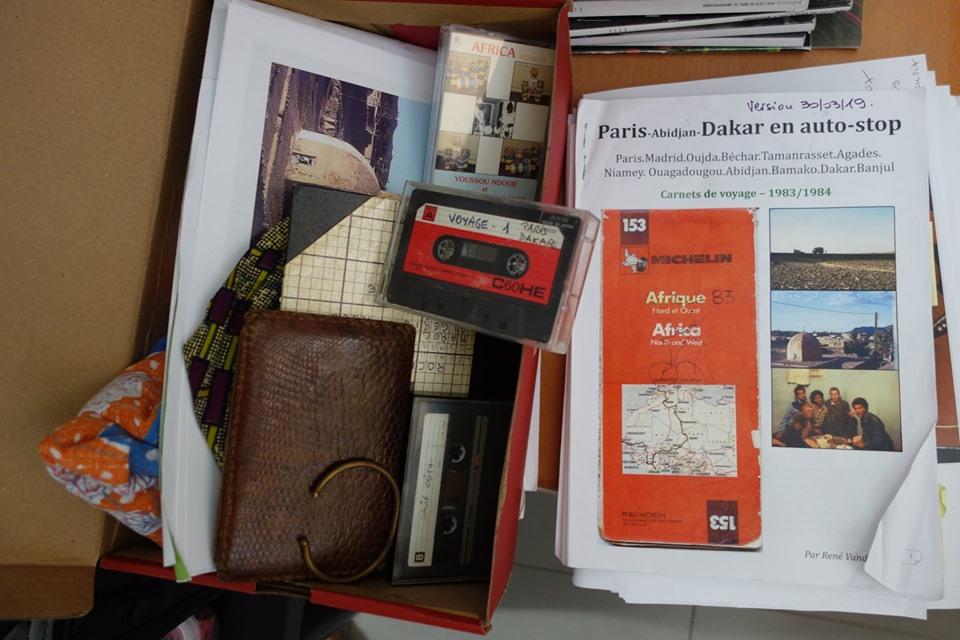 """Vernissage expo """"Paris - Dakar en stop"""" - 1983 . à Maubec image"""
