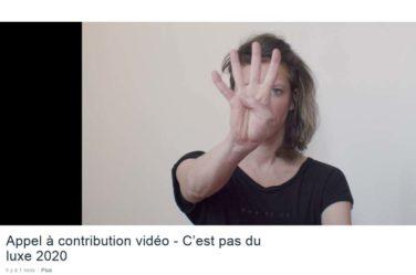 """Appel à Danser !! pour le festival """"C'est pas du luxe"""" . Sept 2020 image"""