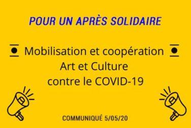 COMMUNIQUÉ : POUR UN APRÈS SOLIDAIRE !! ✊ image
