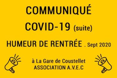 Communiqués Covid-19 (suite) / Humeur de rentrée . Sept 2020 image