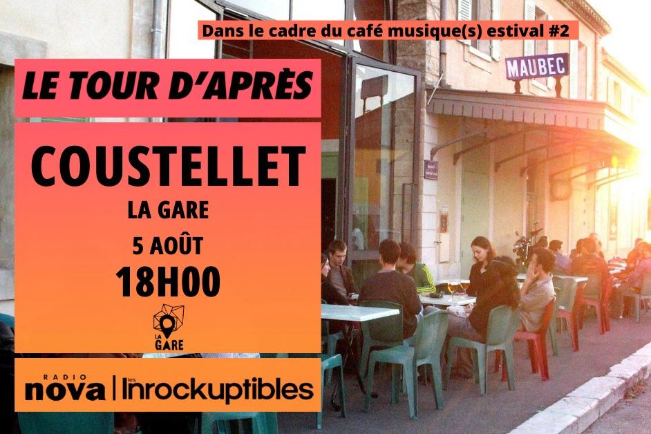 """Café-musique(s) estival #2 + invités """"Le Tour d'Après"""" : Radio Nova et Les Inrocks image"""