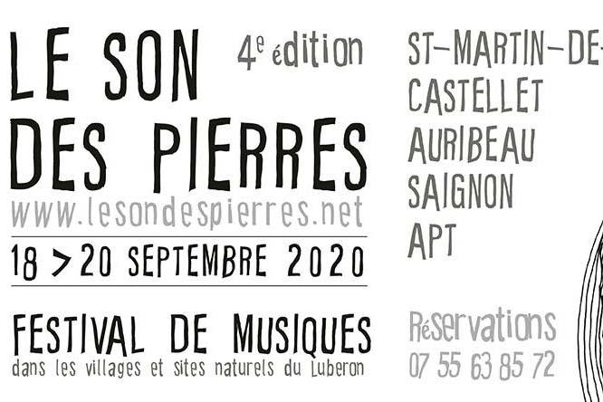 Festival Le Son des Pierres #4 . Du 18 au 20 sept . en Luberon image