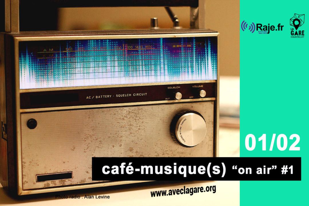 """Café-musique(s) """"on air"""" avec RAJE . Podcast ici image"""