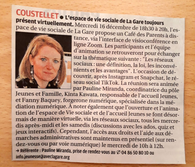 MINUTE PRESSE – La Provence – 11/12/2020 image