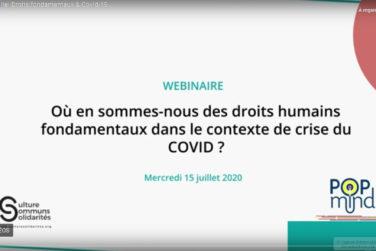 WEBINAIRE : Nos droits fondamentaux / Droits culturels & Covid 19 image