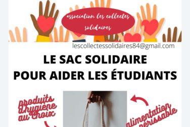 Sac solidaire pour les étudiants 84 . Jusqu'au 27/03/21 image